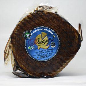 Queso madurado de cabra al vino oloroso el bosqueño. 2 kilos.