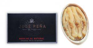 Navajas al natural Premium José Peña de las rías gallegas
