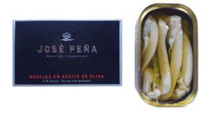 Navajas en aceite de Oliva Premium José Peña de las rías gallegas