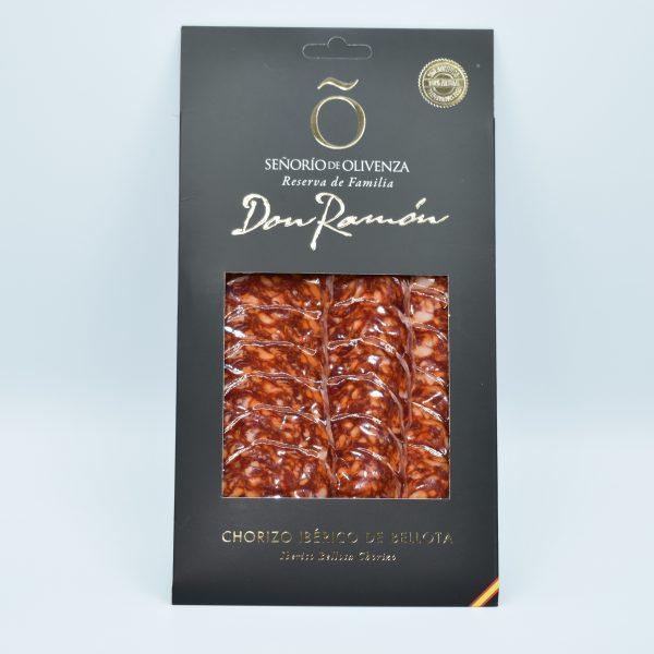 Chorizo ibérico de bellotal loncheado Señorío de Olivenza, sin aditivos, ni conservantes